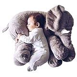 smartpillow Kuscheltier Elefant | 60cm XXL Plüschtier Kissen groß grau Geschenk für Kinder Baby