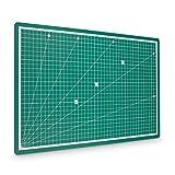 PRETEX Schneidematte 45 x 30 cm (A3) aus recyceltem PVC in grün mit selbstschließender,...