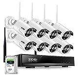 ZOSI 8CH HD 960P Funk Überwachungskamera System mit 1TB Festplatte Wireless HDMI NVR mit 8 Außen...