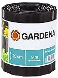 GARDENA 534-20 Beeteinfassung, braun, Rolle 20 cm hoch, 9 m lang