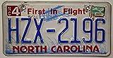 USA Nummernschild NORTH CAROLINA ~ US Kennzeichen LICENSE PLATE ~ Blechschild