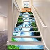 3D Grün Gras Ströme Design Natürlich Landschaft Selbstklebend Treppe Aufsteher Wandmalerei Vinyl...