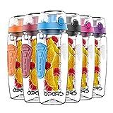 Opard Trinkflasche 1 Liter Fruit Infuser Sports Trinkflasche Water Bottle Tritan BPA-frei Kunststoff...