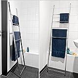 bremermann® Handtuchleiter, Handtuchhalter mit 4 Handtuchstangen zur Wandmontage