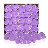 Leisial 50 Stück Teelicht Set Kreative Kerze Romantisches Herz Teelicht Rauchfrei Teelicht für...
