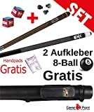 Partnerangebot: Billard-Queues Black Death und Tycoon TC-3 blau, 2-tlg. mit Köcher Laperti 2/2 PVC...