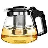 Teekanne Glas Teebereiter 1500 ml mit abnehmbare Edelstahl-Sieb XAGOO Teebereiter mit abnehmbarem...