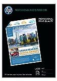 HP Q6550A Professional Laser-Fotopapier matt (beidseitig beschichtet) 200g/m2 A4 100 Blatt, weiß