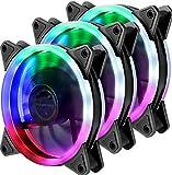 upHere Computer Gehäuselüfter 120mm LED Silent Lüfter für Computer-Gehäuse, CPU-Kühler und...
