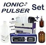 Ionic-Pulser PRO Silber-Generator + Wasser + Medizinflasche und Sprühflasche