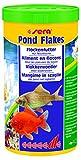 sera 07070 pond flakes 1000 ml - das lange schwimmende Flockenfutter für kleinere Teichfische