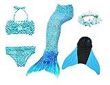 Superstar88 Mädchen Cosplay Kostüm Badebekleidung Meerjungfrau Shell Badeanzug 3pcs Bikini Sets...