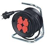 as - Schwabe 10192 Mini-Kabeltrommel MT 190 mm ø, 10 m H05RR-F 3G1.5, IP44 Aussenbereich, schwarz