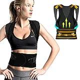 FYLINA Rücken Schulter,Haltungskorrektur Haltungstrainer,Verstellbar Atmungsaktiv Haltungstrainer...