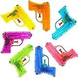 German Trendseller® - 6 x Wasserpistolen Transparent ┃ NEU ┃ Mitgebsel ┃ Kindergeburtstag ┃...