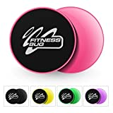 FitnessBug 2 x Core Regler Gleitscheiben Fitness Gym ABS Training Core Workout