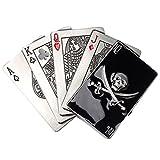 Gazechimp Gürtelschnalle mit Pokermuster und Totenkopf Westlich Cowboy Stil - Mehrfarbig