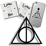 EasyTime UK (TM) Harry Potter Heiligtümer des Todes-Hallow's, mit Lichtschalter-Sticker,...