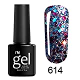 AMhomely Gel Nagellack Diamant Nagellack - Glitter Gel Nagellack - Shining UV Gel Polish tränken...