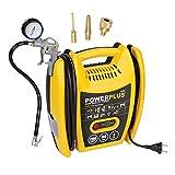 VARO POWX1705 elektrischer Druckluft Kompressor tragbar, 1.100 Watt (1,5 PS) max. 8 bar, inkl....