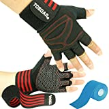 Fitness Handschuhe TOSOAR Trainingshandschuhe mit Bandage Adjustable Handgelenkstütze für...