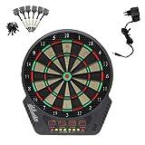 Elektrisches Dartboard Elektronische Dartscheibe LCD mit 6 Dartpfeile 43 cm für 1-16 Spieler