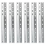 Yaheetech 6 Paar Schubladenschienen Teilauszug Rollenauszug 310/17 mm,Teleskopschiene Kugelführung...