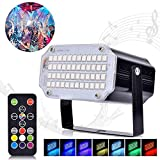 Huttoly Stroboskop Disco Licht Lichteffekte, 48 LED Strobe Licht Party Bühnenbeleuchtung...
