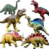 GuassLee OuMuaMua Realistische Dinosaurier Figur Spielzeug - 6 Pack 7 'Große Größe Kunststoff...