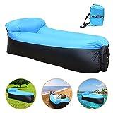 iRegro wasserdichtes aufblasbares Sofa mit integriertem Kissen, tragbarer aufblasbarer Sitzsack,...