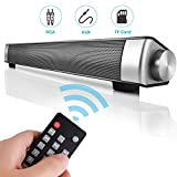 Kingberwi 16 Zoll Kabellos Bluetooth Soundbar Tragbarer Stereo Fernseher Lautsprecher mit...