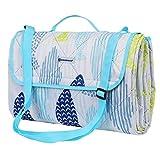 SONGMICS Waschbare Picknickdecke für Outdoor, faltbar zu Tasche mit Schultergurt, leichte...