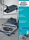 Avery Zweckform 2502 Overhead-Folien (A4, spezialbeschichtet, stapelverarbeitbar, Stärke: 0,11 mm)...
