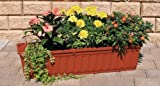 Blumenkasten 80 cm terracotta mit Wasserspeicher MADE IN GERMANY