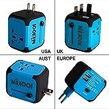 Universellen Reise-Adapter mit Doppel USB-Ports aus 150 Ländern weltweit US UK EU AU Universal...