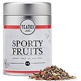 TEATOX Sporty Fruits, Bio Früchtetee mit Apfel und Hibiskus (Dose), Früchtetee lose ohne...