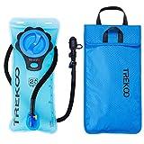 TREKOO Trinkblase 2L mit Taschen - BPA-frei, Fahrrad Trinkblasen Wasserblase Trinkbeutel Sport...