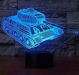 3D Nachtlicht,SUAVER 3D Optische Täuschung LED Lampe, Touch Dimmbare LED Tischleuchte 7 Farbwechsel...