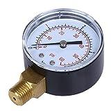 MagiDeal Manometer, Anschluß unten Gewinde 1/4'NPT 0-60 PSI Druckmesser z.B. für Druckminderer,...