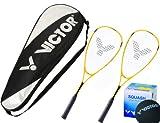 2x Victor Viper Squashschläger inkl. Squashtasche & Squashball