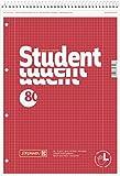 Brunnen 106791201 Notizblock / Collegeblock Student (für Linkshänder, A4, kariert, Lineatur 28, 70...
