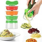 Spiralschneider, 3-Klingen Gemüse Spiralschneider mit dem man endlos Spaghetti Nudeln fertigen...