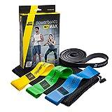 Powerbands Erwachsene Set Max Gymnastikband, Bunt, One Size