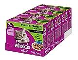 Whiskas Katzenfutter Gemischte Auswahl in Sauce 7+ für erwachsene Katzen, 48 Portionsbeutel, (12 x...