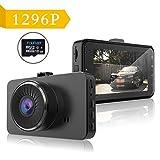 Dash Camera 1296P Auto Kamera Full HD Fahrzeug Kamera 170 ° Weitwinkel mit SONY Sensor HD...