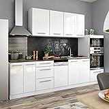 animalmarketonline Küche Wasch Einbauküchen Line von Energie über Pantry Vicco 295cm glänzend...