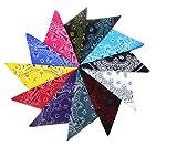 12er Pack Bandanas mit exclusivem Paisley Muster gemischt in 12 Farben - Sortierung 5