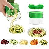 Spargelschäler, Ashleyoo Spiralschneider Set für Gemüsespaghetti Kartoffel - Zucchini...