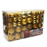 Wohaga® 100 Stück Weihnachtskugeln Christbaumkugeln Baumschmuck Weihnachtsbaumschmuck Baumkugeln,...