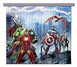 AG Design FCSXL 4328 Avengers Marvel, Kinderzimmer Gardine/Vorhang, 180x160 cm, 2 Teile (1 teil:...